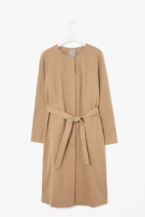 Belted spring coat