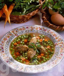 Lajos Mari konyhája - Zöldborsóleves májgaluskával