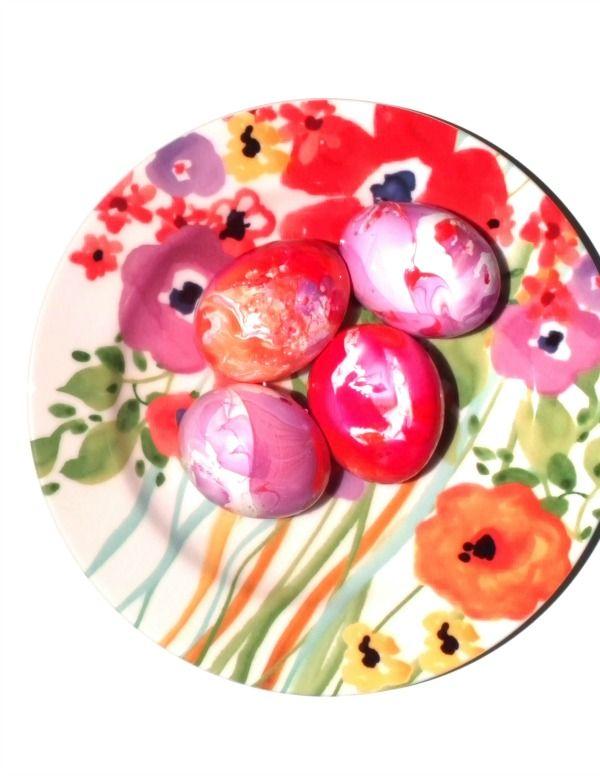 DIY Nail Polish Easter Eggs