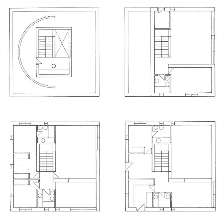 "plansofarchitecture: ""Alberto Campo Baeza, Turégano House, 1986, Madrid, Spain """