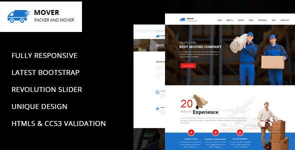 Mover - Company WordPress Theme by kendythemes Mover ¨C Company WordPress Theme Movers is modern and great business WordPress Template which is best suited for relocation, moving