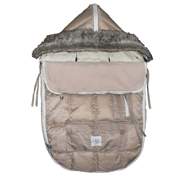 Don't let the picture fool you -- this versatile product can be used as a car seat cover, foot-muff, and even a snow suit for babies that can't walk (without the hassle of a snowsuit). It can also be used as a portable sleeping bag, a car seat cover, a stroller cover, and a blanket.