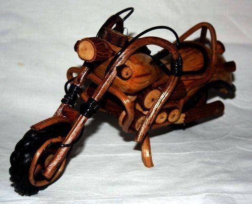 Deko-Objekte - Motorrad Modell Holz 100% Handgefertigt 30x15x8cm - ein Designerstück von Art-Market-Onlineshop bei DaWanda