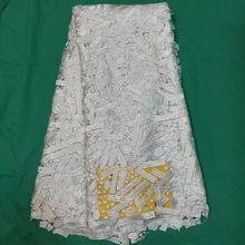 Вышивка растворимый в воде кружевная ткань стильный элегантный африканский гипюр шнур кружевная ткань белый ( 3l30(China (Mainland))