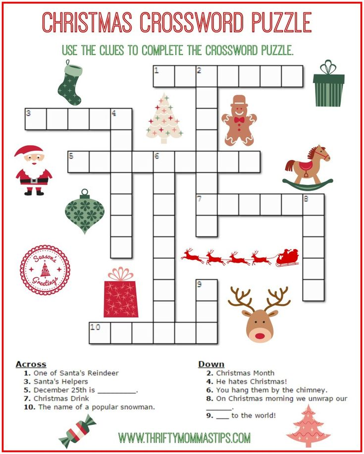 The 25 best Christmas crossword ideas on Pinterest  Crossword