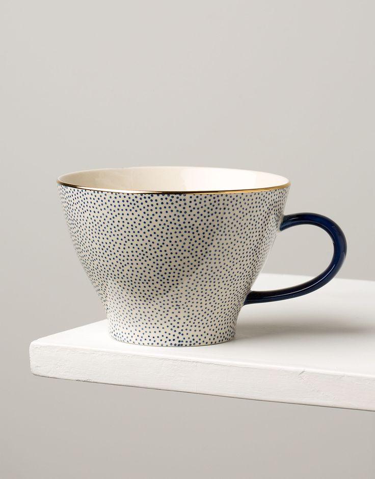 PLAIN GOLD CUP dot mugg | Mugs/cups | muggar och skålar | Glas & Porslin | Inredning | Indiska.com