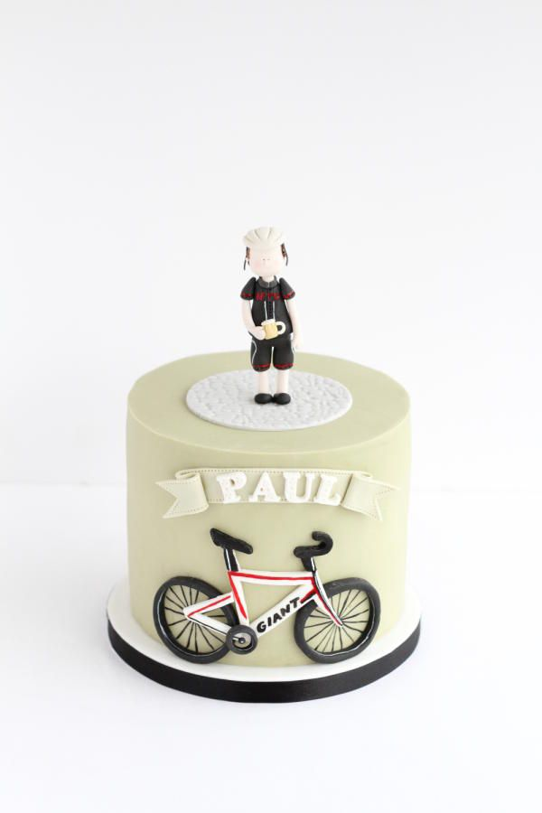 Cycling cake by Rebecca Davies Cake Design