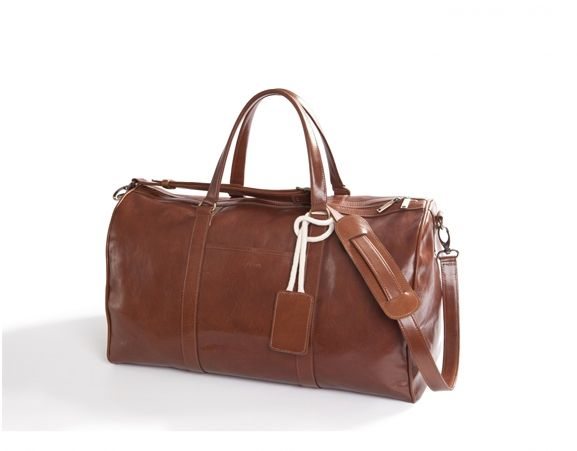MISOUI - Vegetable tanned leather duffle weekender. Made in Poland.