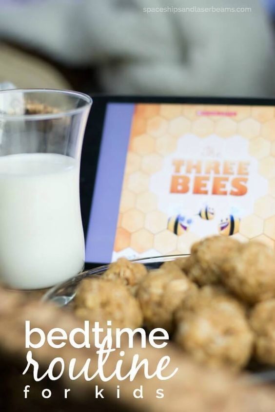 Kid's Bedtime Routine -- a great story + tasty snack idea.