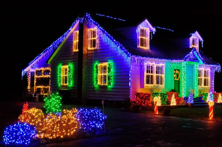windows with christmas lights | Christmas Light Installation