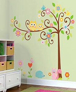 Owls Scroll Tree Wall Decals.  I used this and LOVE it.  Easy to remove or reposition