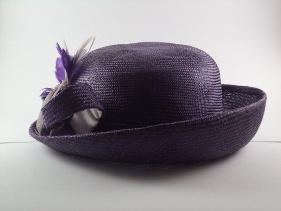 Purple parisisal picture hat by MillinerybyMelissa on Etsy