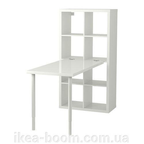 """Купити ІКЕА """"КАЛЛАКС"""" Стіл, комбінація, білий глянець. в інтернет-магазині IKEA-BOOM в Київській області"""