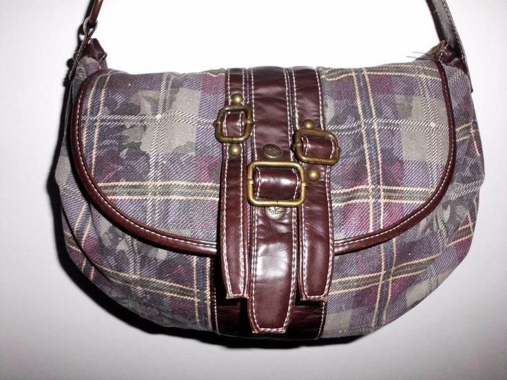 SPARROW TRUE Floral Plaid Cotton Fabric Shoulder Bag Crossbody Purse Vinyl Trim #SparrowTrue #ShoulderBag