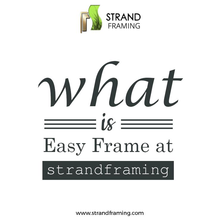 Want to know what is an #EasyFrame and how it is made? See this cool #GIF image from Strand Framing Ltd to find out.