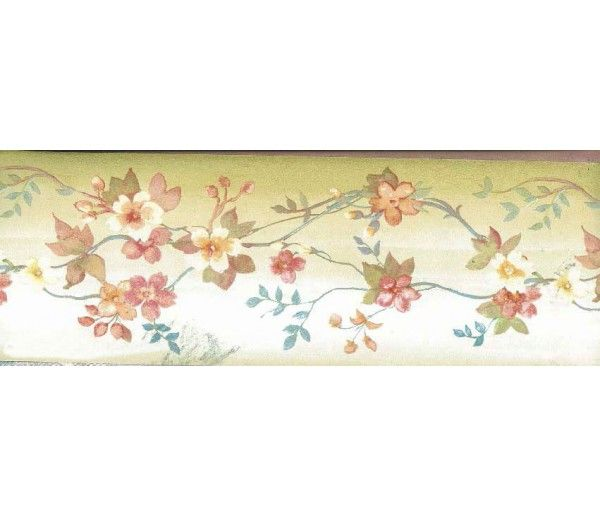 5 In X 15 Ft Prepasted Wallpaper Borders Brown Background White Tiny Flowers Wall Paper Border Red Flower Wallpaper Red Roses Wallpaper Flower Wallpaper