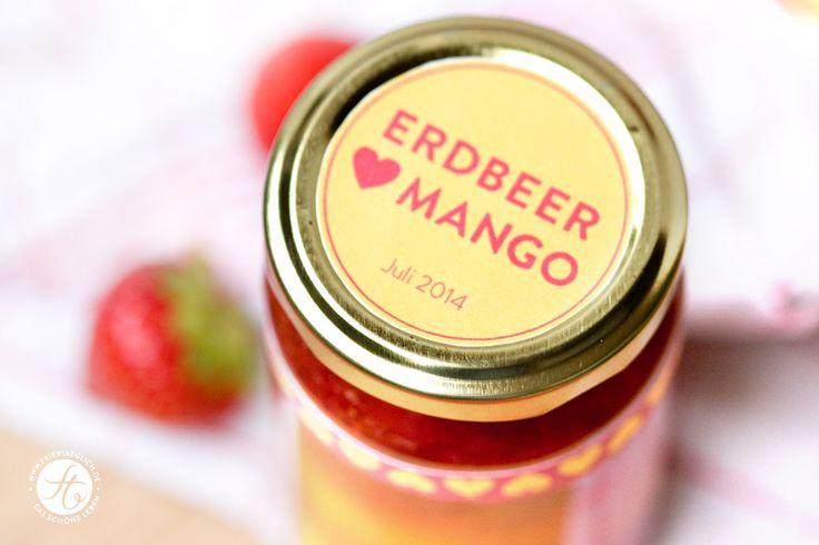 Erdbeer liebt Mango Marmelade – ganz ohne Zucker! – feiertäglich…das schöne Leben