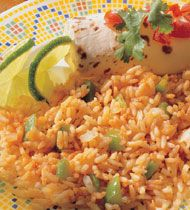 Easy Spanish Rice with Cambell's Healthy Request Tomato Soup.