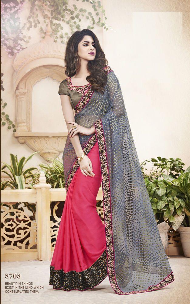 Wedding Sari Saree Partywear Pakistani Bollywood Ethnic Indian Designer 24% Off…