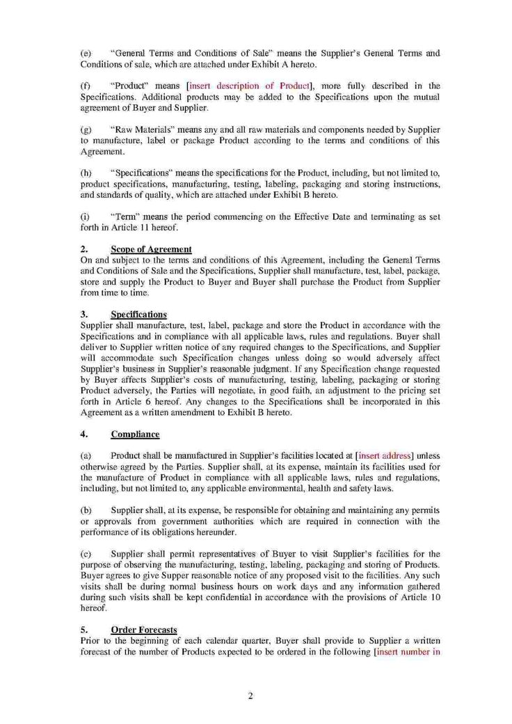 Download Toll Manufacturing Agreement Style Template For Free At