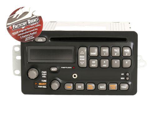 Reman and Aux Upgrade SERVICE for 2003-2005 Pontiac Aztek Montana AM FM CD Radio