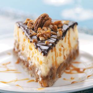 Your family will be thrilled with this Layered Turtle Cheesecake.