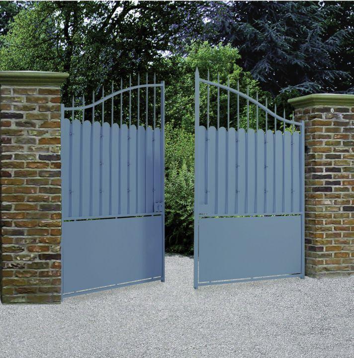 Portail portillon cl ture acier excalibur roy for Cloture et portillon
