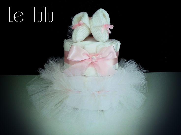 Gâteau de couches tutu pour bébé fille : Puériculture par pixiepink