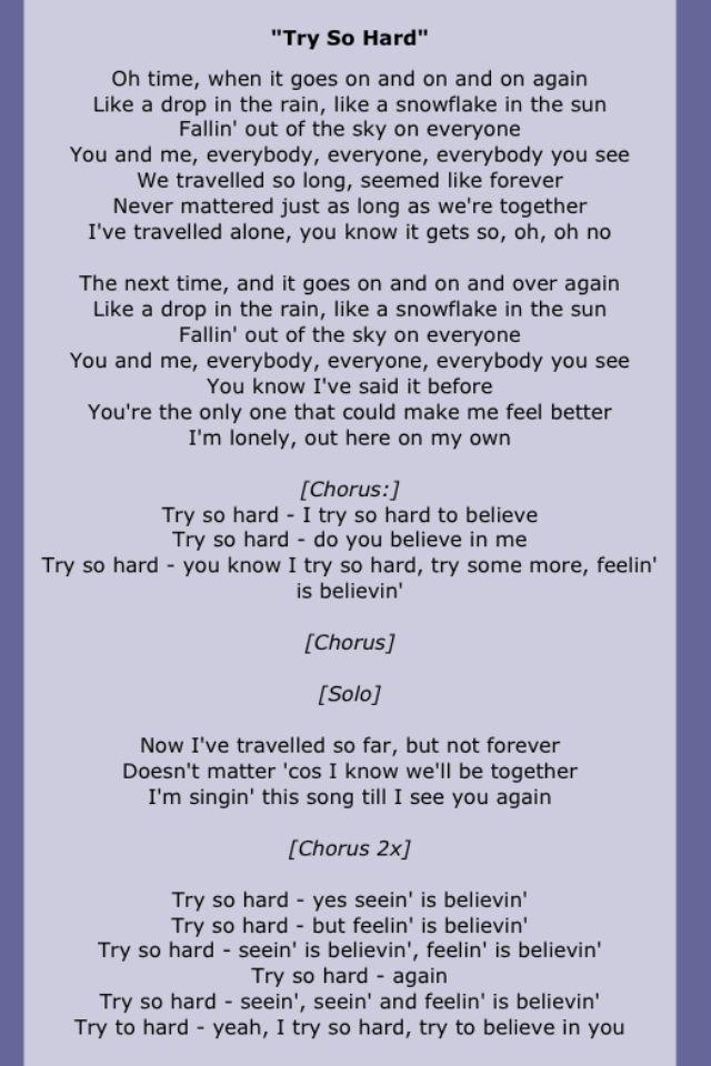 Lyric i believe in you lyrics : 283 best Song Lyrics Three images on Pinterest | Lyrics, Music ...