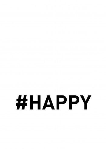#Happy - white