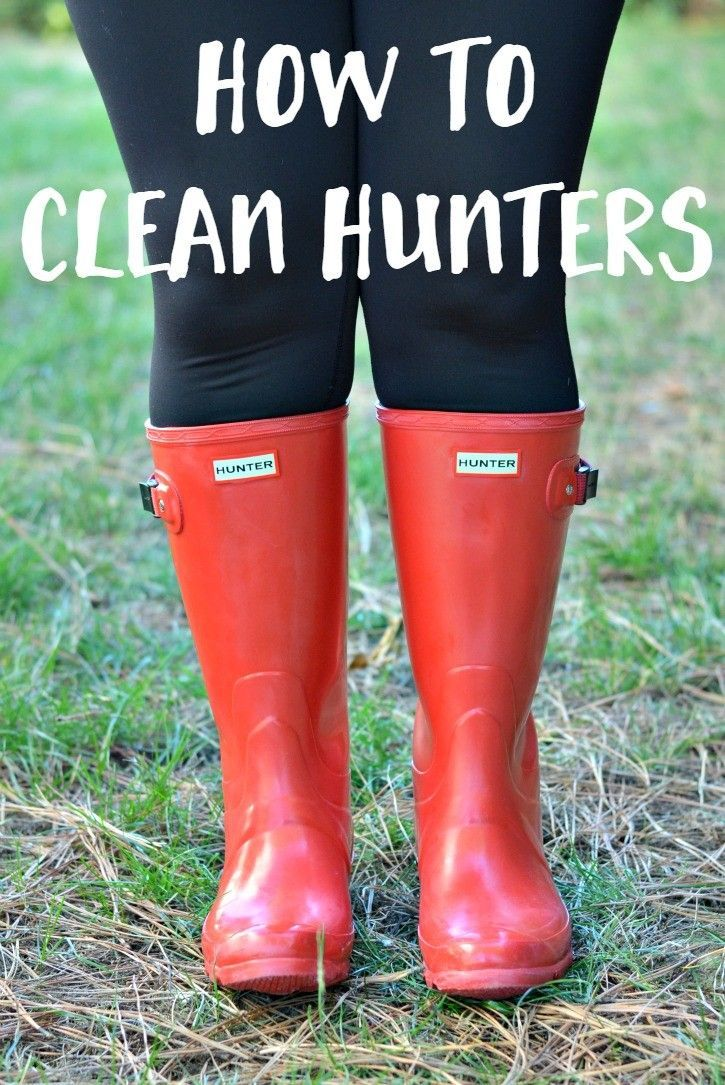 How To Clean Hunter Rain Boots - Easily remove the natural bloom that pops up on Hunter rain boots.