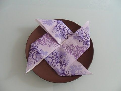 Servietten falten: Windmühle napkin folding wind mill - YouTube