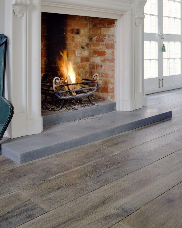 Dark Brown Reclaimed Engineered Oak Floor  Living room