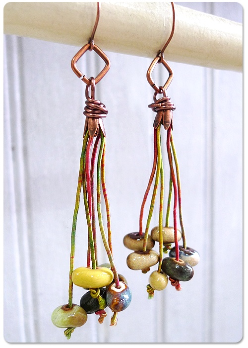 love the use of colored cord in this tutorial