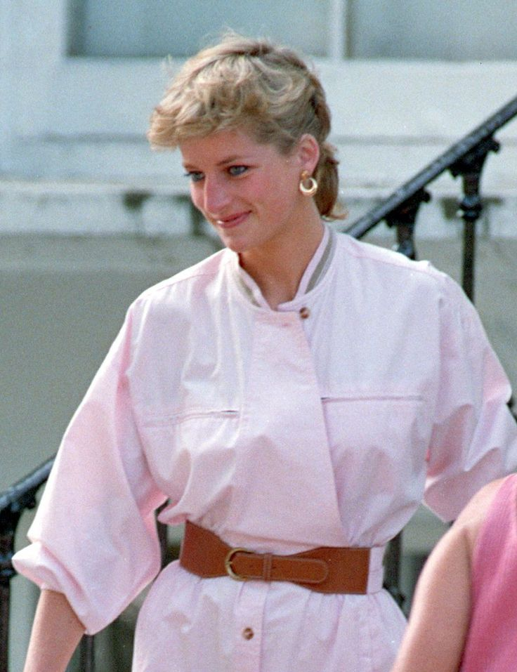 Princess Diana Hair In A Ponytail