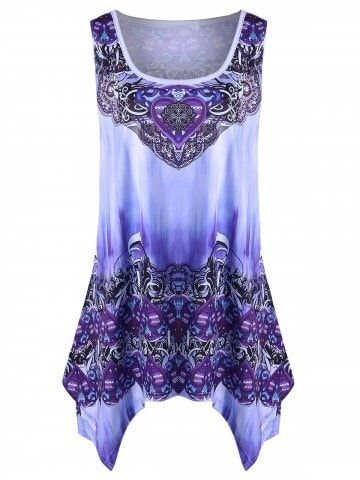 0fa63d5c11c13 Shop for purple plus size graphic handkerchief tank top online at and  discover fashion at mobile