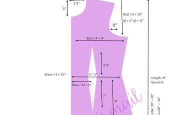 Cara lukis pola baju (basic pattern making)