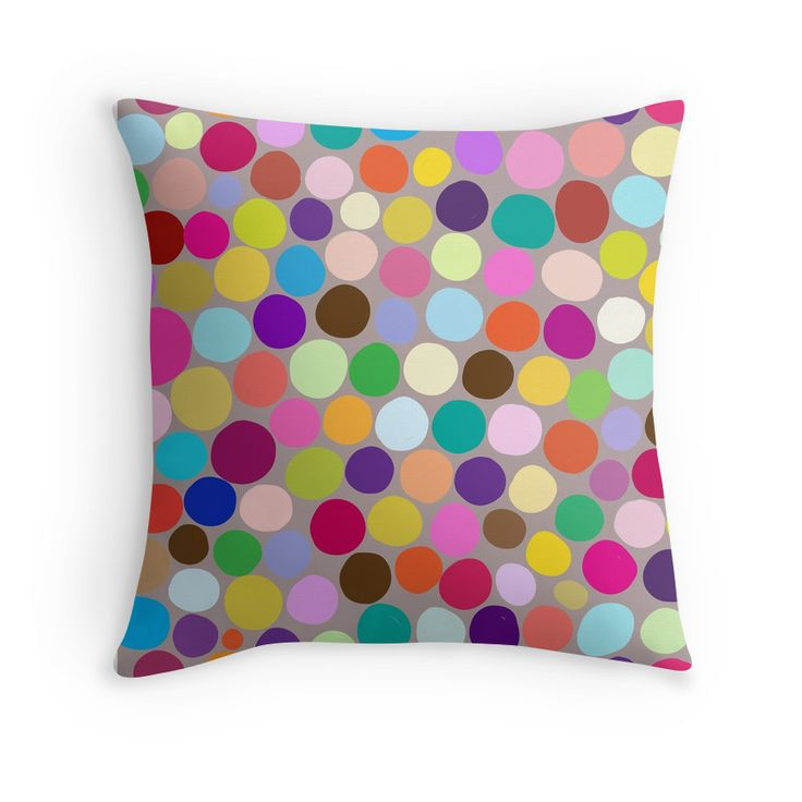 """""""Colorful abstract background with different diameter circles"""" Throw Pillows by smotrivnebo   Redbubble"""