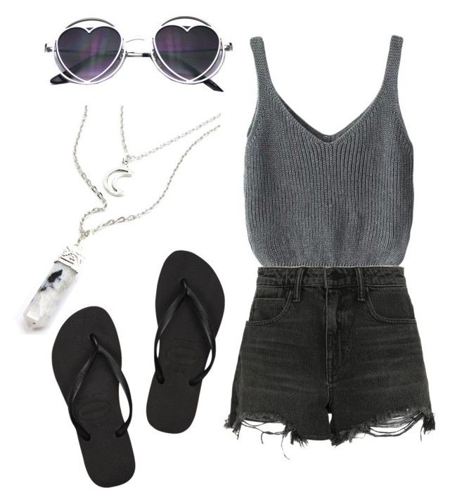 Untitled #50 by danifrancis on Polyvore featuring polyvore, fashion, style, Alexander Wang, Havaianas and clothing