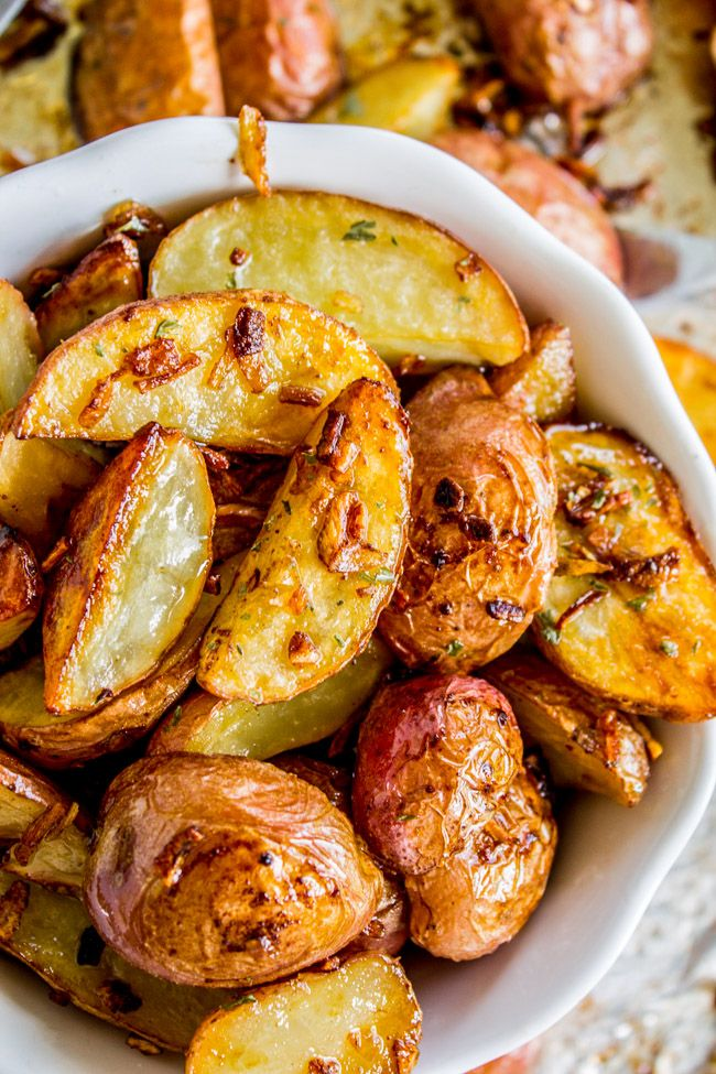 3 Ingredient Crunchy Roasted Potatoes from The Food Charlatan