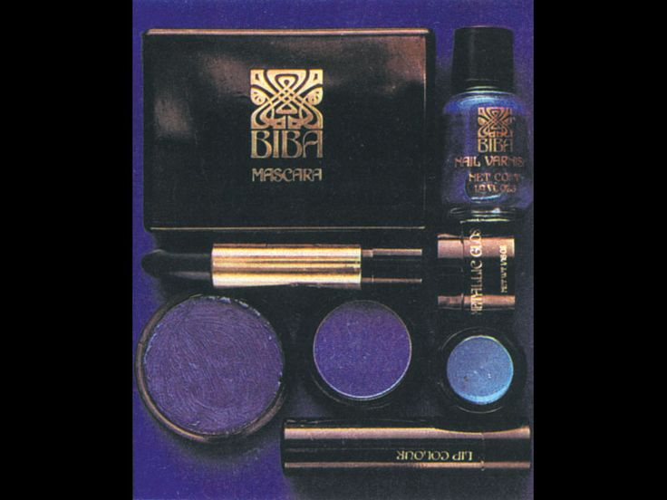 Biba cosmetics, early 1970s.