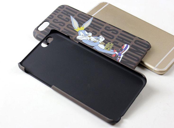 Moschino iphone6splusケースシンプルアイフォン保護カバー ハードケースキャラクターBugs Bunnyバッグス・バニー送料無料