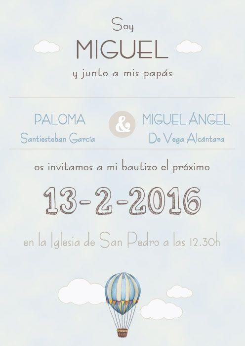invitacion para #bautizo niño. #invitacionbautizo #bautizo2016