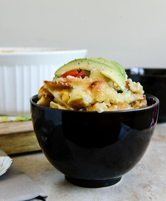 roasted summer vegetable mac + cheese via: how sweet it is