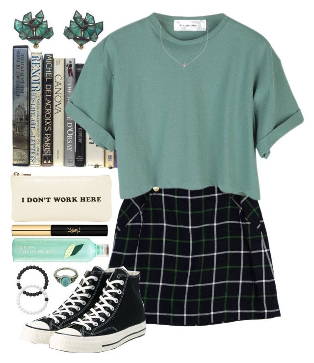 """""""Natasha"""" by brie-the-pixie ❤ liked on Polyvore featuring Kate Spade, StyleNanda, Lokai, Converse, Nak Armstrong, ban.do, Yves Saint Laurent, Minnie Grace and Innisfree"""