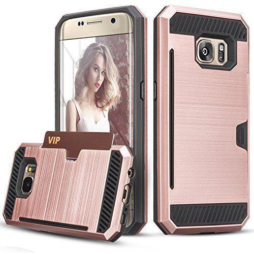 Coque Galaxy S7 Edge, [Fente pour carte] Hybrid PC dur TPU Antichoc Double Couche Pare-chocs Anti-rayures Protection de Housse Etui Case…