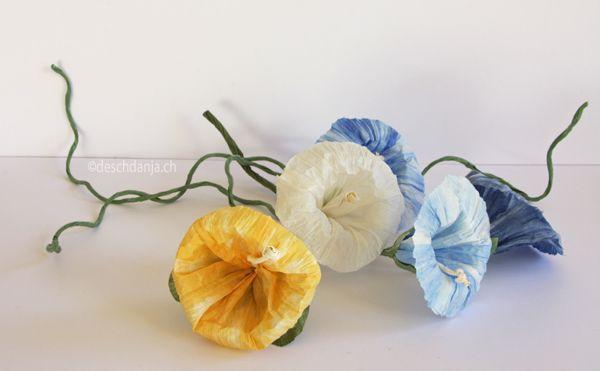 Papiergarn Blumen