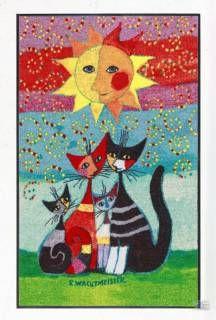 Ein Traum von Katze! Rosina Wachtmeister Matte so bunt so schön so froh