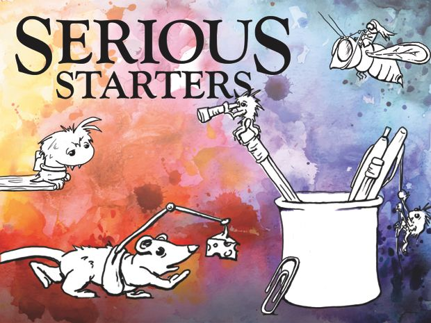 An imagination drawing book for kids of all ages. illustrations by Serious Creatures. Serious Starters Kickstarter!