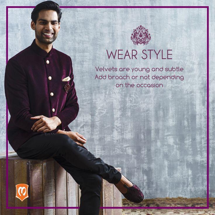 #StyleStatement by the #Designer. To shop this attire - http://www.manyavar.com/manyavar-trendy-indo-western-4757.html